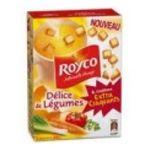 Royco -  minute soupe extra craquant soupe instantanee sachet sous etui delice de legumes et croutons trois assiettes une assiette par sachet  3036812020964