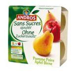 Andros -  Dessert fruitier sans sucre -  compote pomme poire 3045320510850