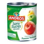 Andros -  Purée de fruits -  Purée de pommes, Sans sucre ajouté 3045320512984