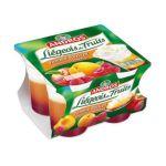 Andros -  Liégeois de fruits -  Liégeois Pomme Abricot sur coulis de framboise 3045320514681