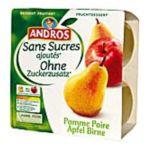 Andros -  Dessert fruitier sans sucre -  Compote Pomme Poire 3045320516944
