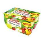 Andros -  Dessert fruitier -  Compote pommes  natures (x6) et pommes fraises (x6) 3045320527094