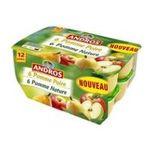 Andros -  Dessert fruitier -  Compote pommes natures (6x) et pommes poires (6x) 3045320527100
