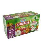 Andros -  Pocket -  Compote fruits panachés  pomme nature, pomme fraise, pomme poire, pomme abricot 3045320529081