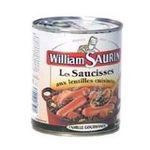 William Saurin -   saurin famille gourmande saucisse lentille boite de conserve  3049580545577