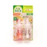 Air Wick -  wick symphonia diffuseur electrique blister peche freesia 2ct2 recharges multi usage liquide diffuseur electrique modulable multichambre  3059943012561