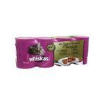 Whiskas -  nourriture pour chat boite de conserve poulet ou agneau ou dinde ou veau  4ct tous chats terrine  3065890001107