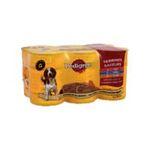 Pedigree -  delice de viandes nourriture pour chien boite de conserve boeuf ou poulet ou agneau  6ct tous chiens patee et morceau  3065890001848