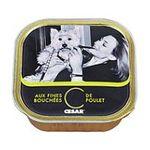 César -  nourriture pour chien barquette aluminium poulet tous chiens terrine  3065890002111