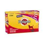 Pedigree -  delice de viandes nourriture pour chien boite de conserve viande ou boeuf ou poulet  3ct tous chiens bouchee en sauce  3065890002234