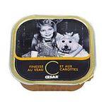 César -  finesse nourriture pour chien barquette aluminium veau tous chiens patee  3065890003507