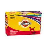 Pedigree -  nourriture pour chien boite de conserve agneau ou porc ou veau  3ct tous chiens patee  3065890012189