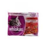 Whiskas -  nourriture pour chat pochon boeuf ou agneau ou dinde ou canard  4ct tous chats bouchee en sauce  3065890027701