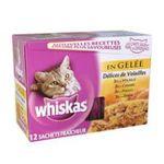 Whiskas -  nourriture pour chat pochon poulet ou dinde ou canard ou volaille  12ct tous chats bouchee en gelee  3065890035348