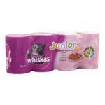 Whiskas -  chaton nourriture pour chat boite tir'vite canard ou volaille ou boeuf ou lapin  4ct chaton terrine  3065890082489
