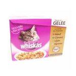Whiskas -  nourriture pour chat pochon agneau ou boeuf ou lapin ou poulet  12ct tous chats emince en gelee  3065890103795