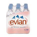 Evian -   None  eau minerale bouteille plastique nature  6ct etagere  3068320055022 UPC