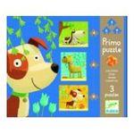 Djeco -  Puzzle 4, 6 et 9 pièces Primo chien 3070900071377