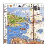 Djeco -  Puzzle pirates découverte 100 pièces 3070900075061