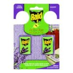 Raid -  insecticide blister lavande 2ct  gel non rechargeable mite  3092830101429