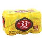 33 export -   export biere boite metallique  6ct 4.8 degres blonde  3119780005109