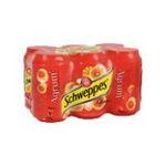 Schweppes -  agrum soft drinks gazeux boite metal agrume standard  6ct pas de cafeine boisson aux fruits gazeuse etagere  3124480002556