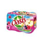 Oasis -  boisson aux fruits plate boite metal pomme framboise cassis  6ct  3124480158734