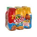 Oasis -  pocket boisson aux fruits plate bouteille plastique orange  6ct  3124480162670