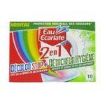Eau écarlate -   ecarlate decolor stop 2 en 1 hygiene anti decolorant boite carton 10cttout textile bactericide sachet pendant lavage  3152210005973