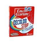 Eau écarlate -   ecarlate decolor stop anti decolorant boite carton non parfume 12cttout textile lingette pendant lavage  3152210006017