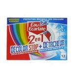 Eau écarlate -   ecarlate decolor stop 2 en 1 anti decolorant boite carton 12cttout textile detachant sachet pendant lavage  3152210008301