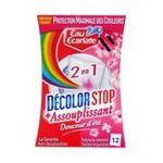 Eau écarlate -   ecarlate decolor stop 2 en 1 assouplissa anti decolorant boite carton douceur d'ete 12cttout textile assouplissant sachet pendant lavage  3152210008523