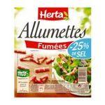 Herta -  2x allumettes fumes -25% sel herta  3154230001898