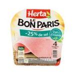 Herta -  le bon paris jambon cuit porc qualite superieur decouenne degraisse 4 t standard  3154230030294