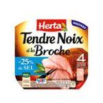 Herta -  tendre noix jambon cuit porc qualite superieur decouenne 4 t standard  3154230036104