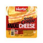 Herta -  tendre croque maxi croque monsieur pain de mie jambon cheddar 1 part standard barquette microondable  3154230039303