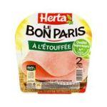 Herta -  le bon paris jambon cuit porc qualite superieur decouenne degraisse 2 t standard  3154230043171