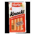 Herta -  knacki saucisse pate fine skin nature x 4 knacki standard standard meuble refrigere  3154230045809