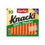 Herta -  knacki saucisse pate fine skin nature x 10 knacki standard standard meuble refrigere  3154230046448