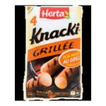 Herta -  grille de knacki saucisse pate fine skin grille x 4 knacki standard standard meuble refrigere  3154230084419
