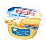 Elle & Vire -  CREME DESSERT VANILLE E&VIRE 4X | Elle Et Vire | Crème dessert UHT vanille | Colis de 12 lots de 4 pots - Le pot de 125 g 3161910326806