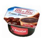 Elle & Vire -  CREME DESSERT CHOCOLAT  E&VIRE 4X | Elle Et Vire | Crème dessert UHT chocolat | Colis de 12 lots de 4 pots - Le pot de 125 g 3161910326929