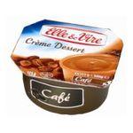 Elle & Vire -  CREME DESSERT CAFE  E&VIRE 4X | Elle Et Vire | Crème dessert UHT café | Colis de 12 lots de 4 pots - Le pot de 125 g 3161917748342