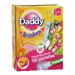 Daddy -   suc sucre buchettes individuelles dans boite plastique blanc poudre  3165431690002