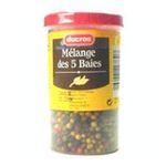Ducros -   poivre boite menagere grains 5 baies  3166291167307