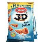 Benenuts - 3D's Bugles - Snack goût nature +15% gratuit 3168930003427