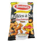 Benenuts - Graines - Cacahuètes grillées à sec saveur barbecue, dorées au four, le sachet 3168930004011