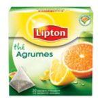 Lipton -  the noir sachets individuels dans boite carton agrumes 20 sachets sachet pyramide  3228881010711