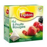 Lipton -  the noir sachets individuels dans boite carton 5 fruits rouges 20 sachets sachet pyramide the noir  3228881010971