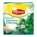 Lipton -  the vert sachets individuels dans boite carton menthe intense 20 sachets sachet pyramide the vert  3228881011138